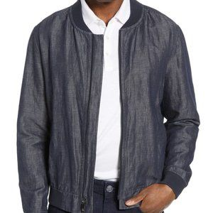 Robert Barakett BNWT Blue Linen Blend Jacket